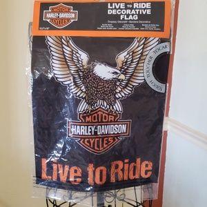 NWT Harley Davidson Decorative Flag